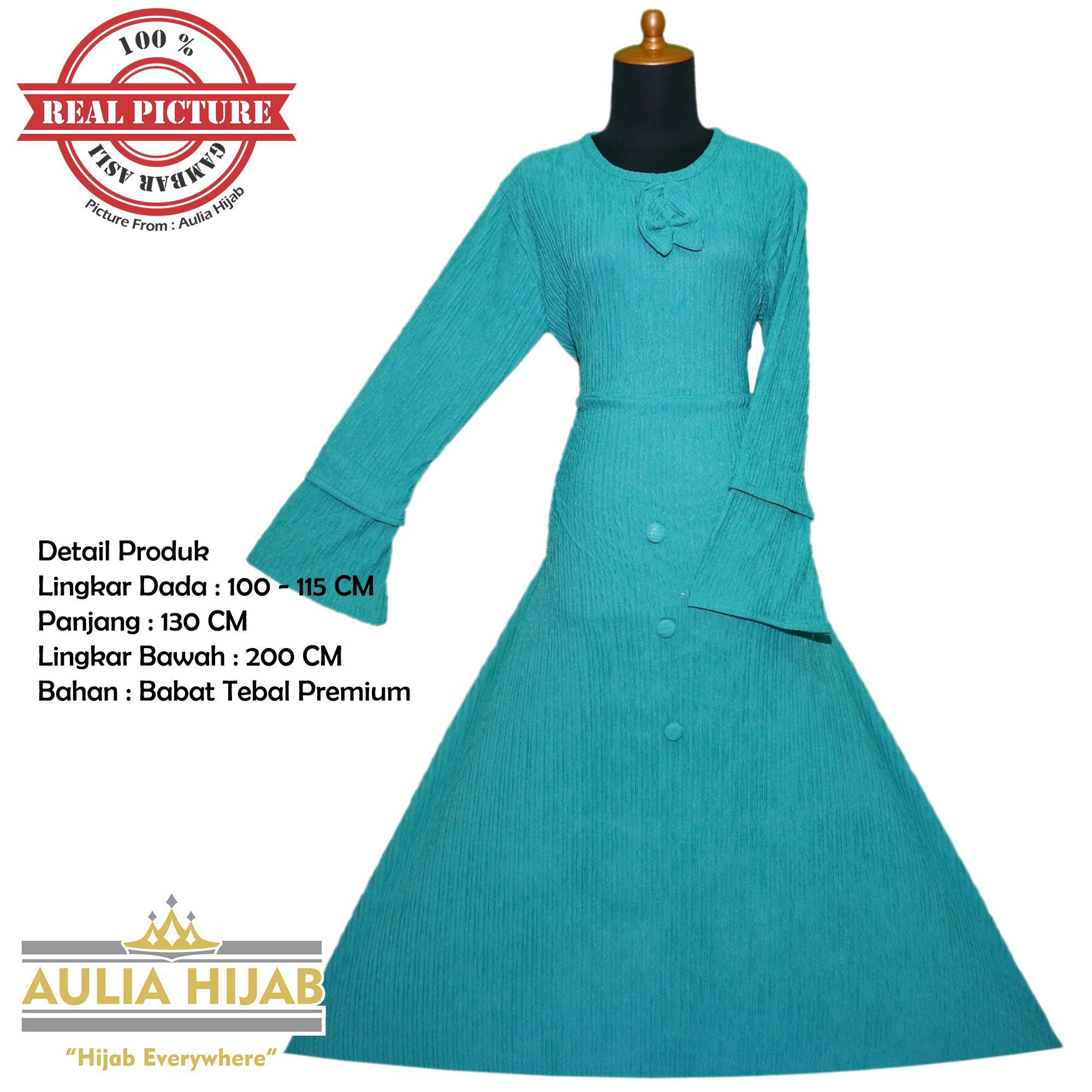 Aulia Hijab - Gamis Ukhti Dress Bahan Babat Tebal Premium/Gamis Babat/Gamis Tebal/Gamis Premium/Gamis Polos/Gamis Terbaik/Gamis Best Seller/Gamis Terbaru/Gamis Cantik/Gamis Arsy/Gamis Cantik