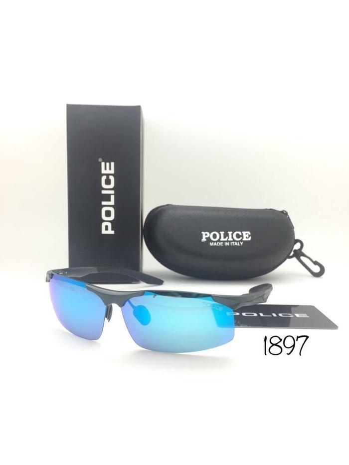 Kacamata Police 1897 Polarized Sunglass Pria Hitam Merah 56cb6d821d