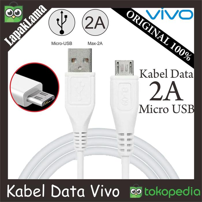 Termurah Kabel Data Chargeran Vivo 2A V8 Original 100%SB Micro Cable Data ORI -