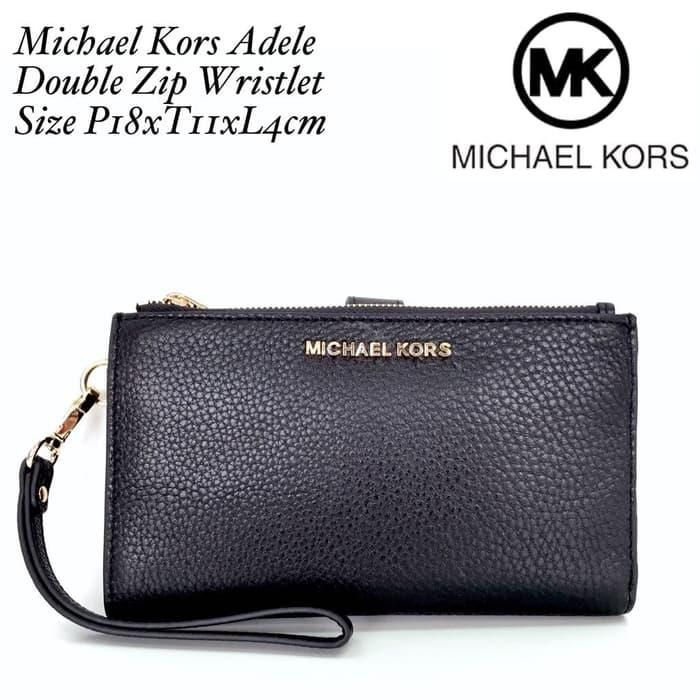 BEST SELLER!!! Michael Kors Adele Double Zip Wristlet - g1X7Or