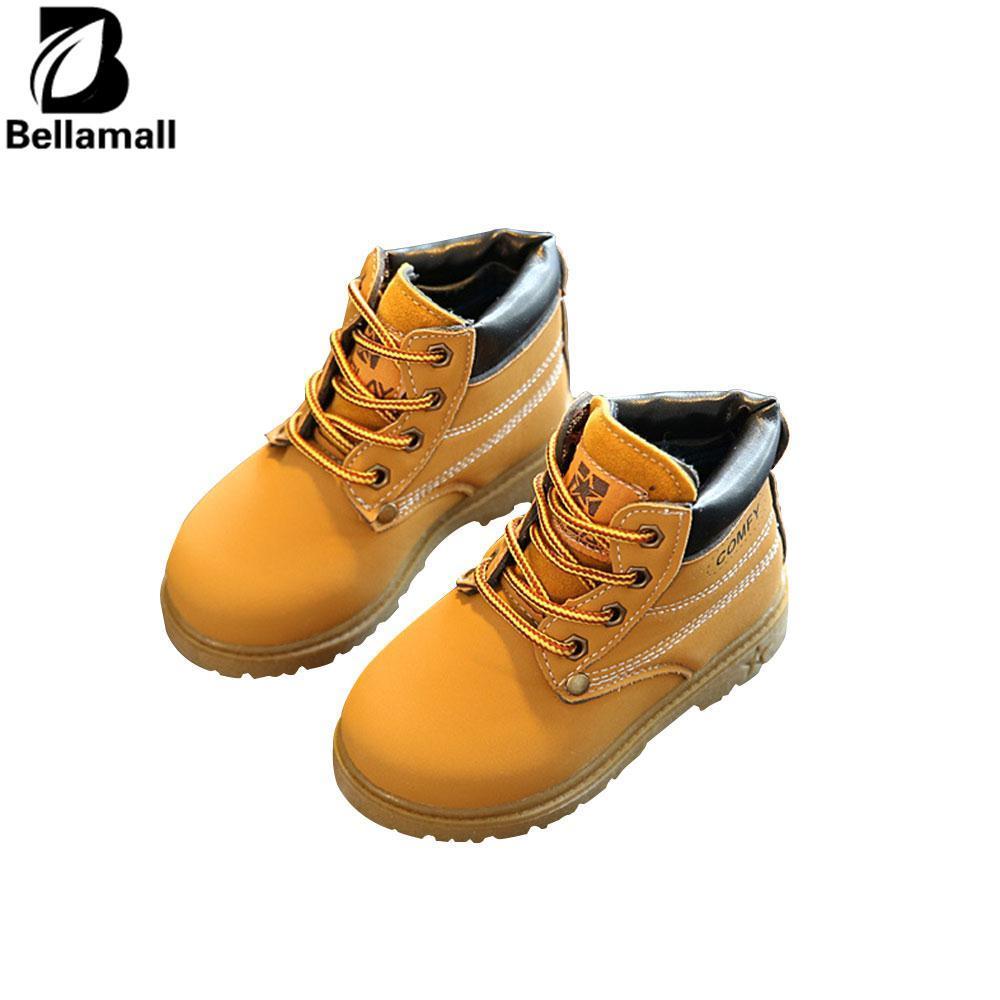 Bellamall: Nyaman Pakaian Anak-anak Casual Hangat Martin Boots Sepatu Bot Salju untuk Anak Kids Boys Gadis Tendon-Intl