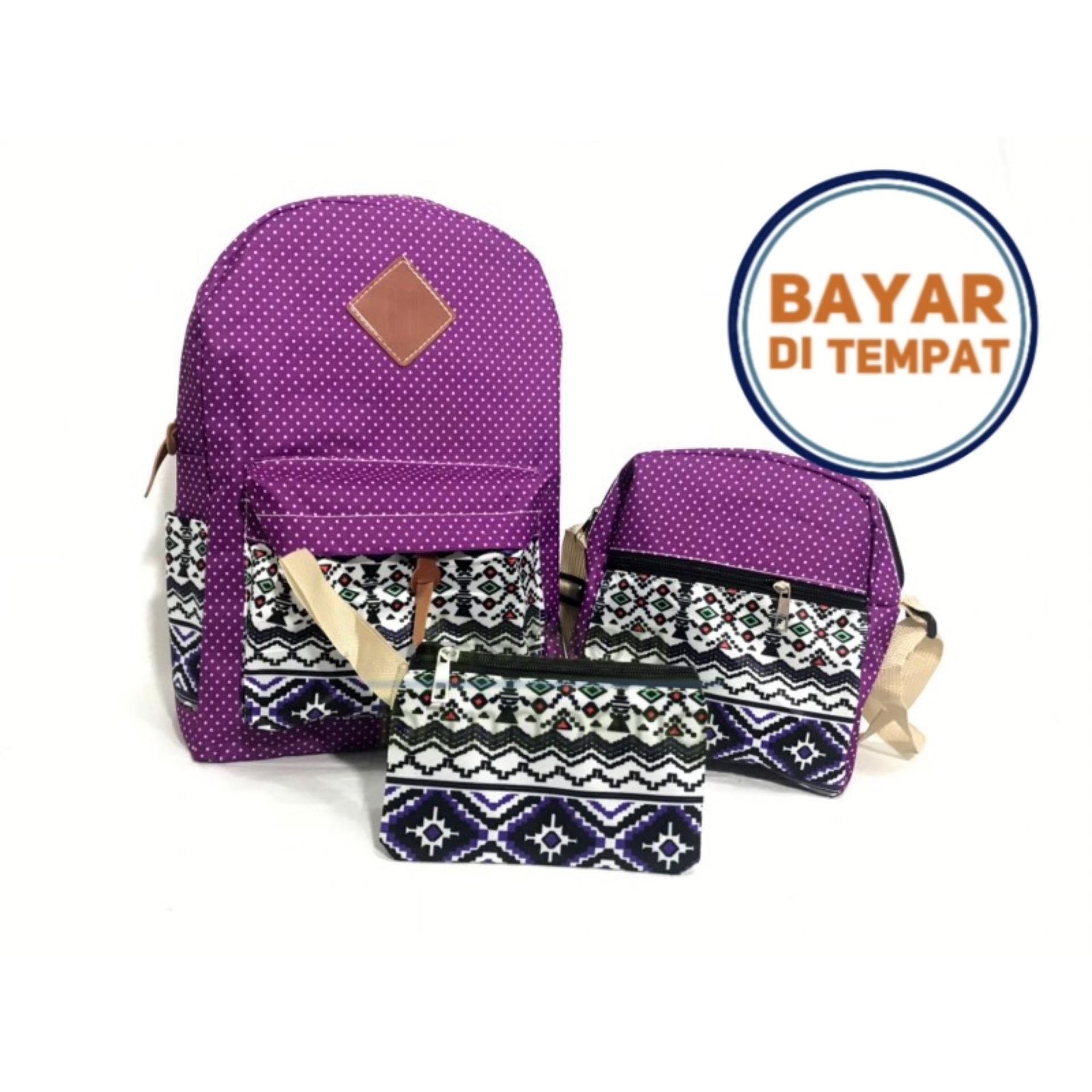 Tas Ransel Wanita Backpack batik