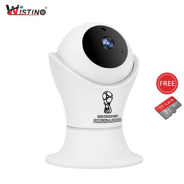 Wistino 1080 P Wifi Kamera Ip Piala Dunia CCTV Dalam Ruangan Kamera Keamanan Nirkabel 2MP Monitor Video Bayi IR Pengawasan Penglihatan Malam