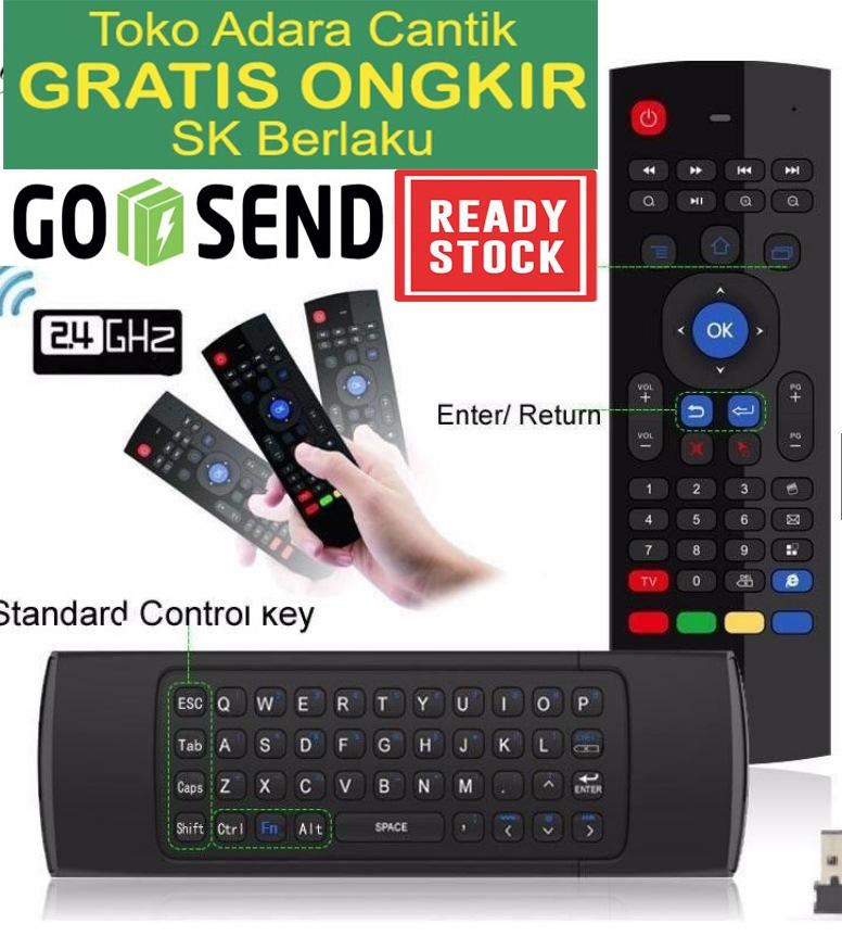 Keyboard Wireless Mini Touchpad Mouse Wireless Air Mouse Remote Control Untuk TV Android PC Noteboo
