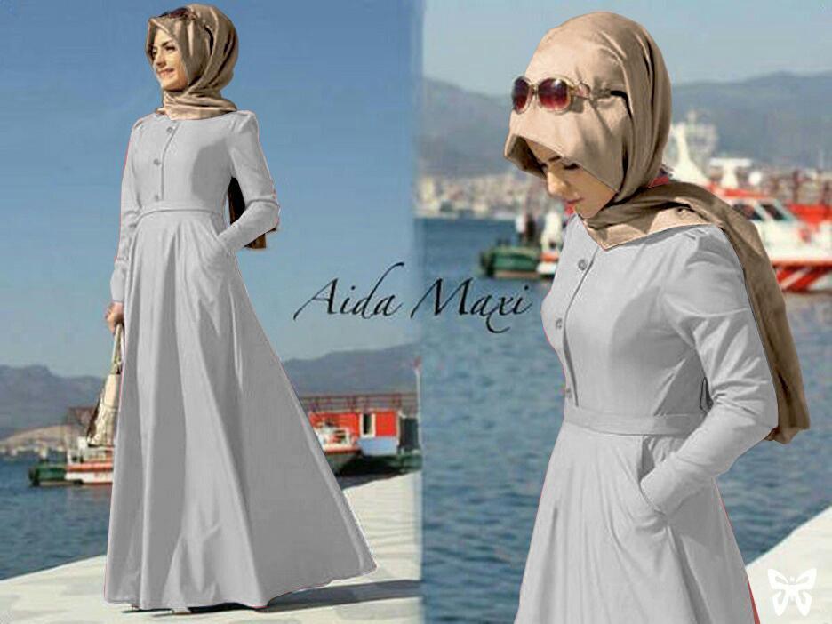 Gamis pesta - Baju gamis - Gamis wanita - Baju muslim wanita terbaru - Maxi Basic Pashmina Uk L - Maroon