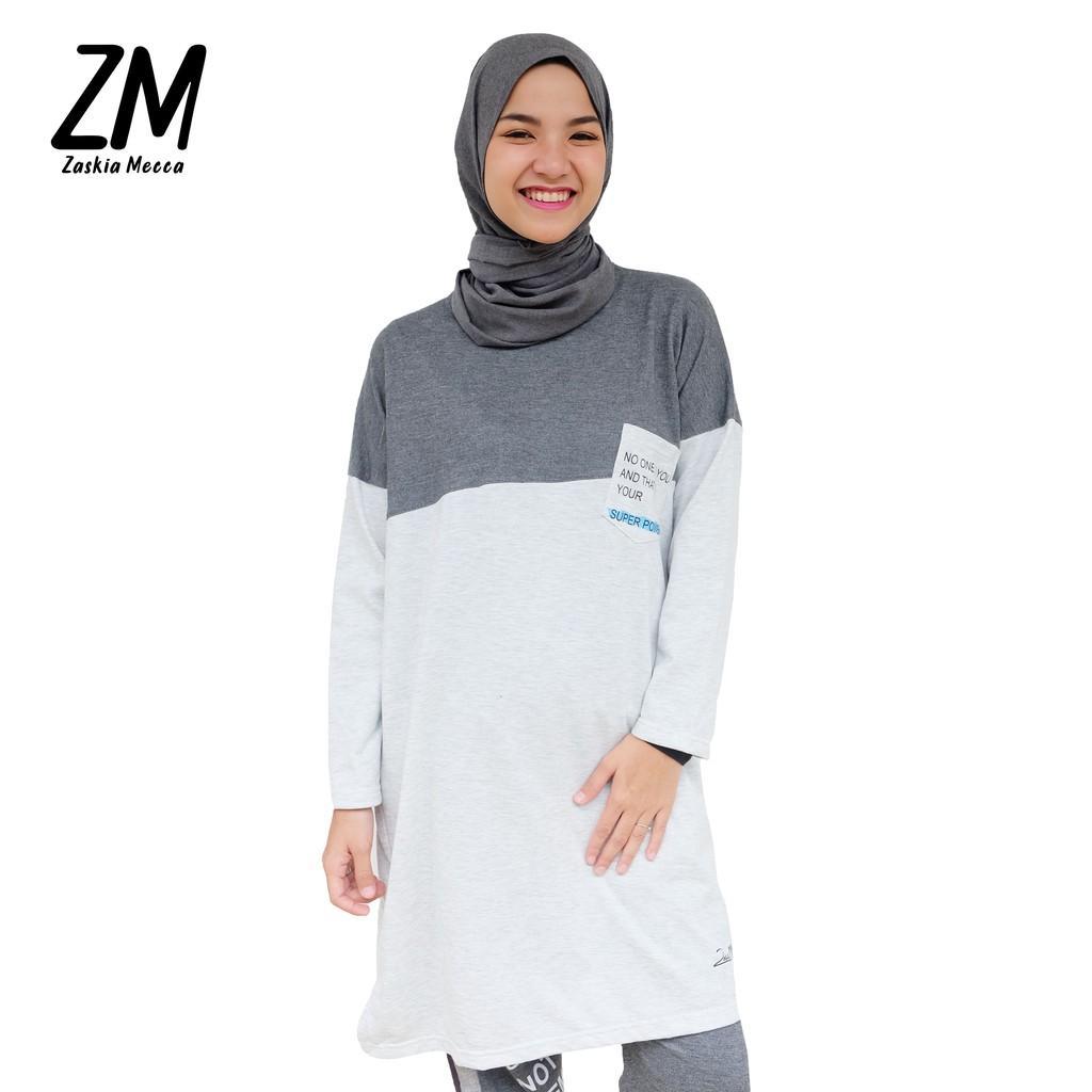 Zaskia Mecca Idya Tunik (Grey Size L)