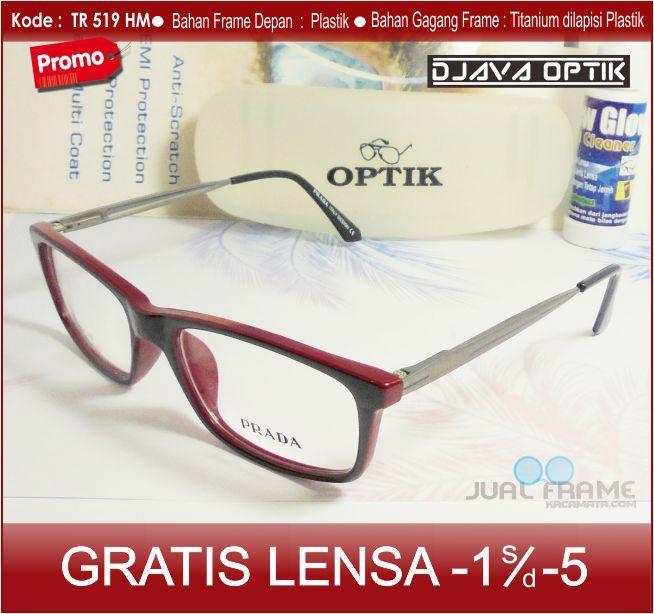 Frame Kacamata Prada tr519  + Lensa minus/ples/silinder untuk pria dan wanita