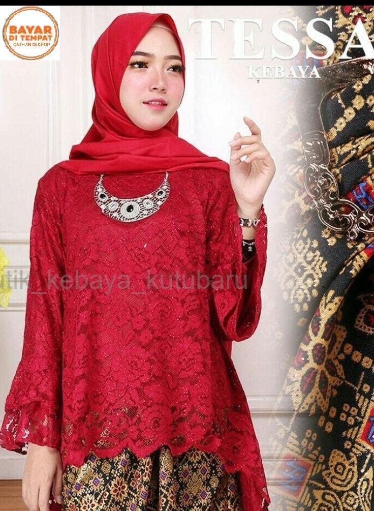 Atasan pakaian baju batik wanita/kebaya wanita/kebaya tradisional/ Kebaya modern/ kebaya wisuda/kebaya brukat/atasan kebaya rinjani baru brukat furing keluaran terbaru