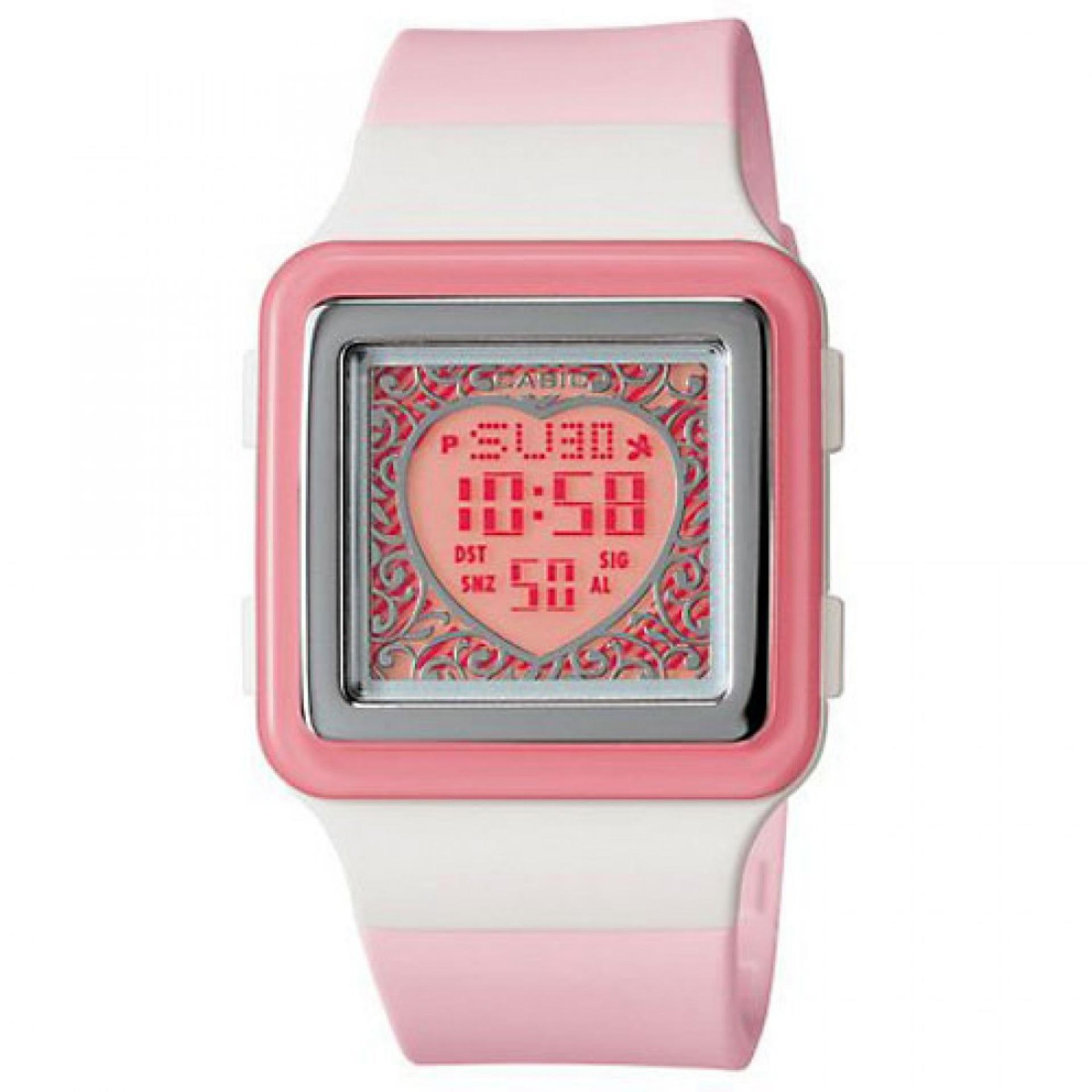 Casio Poptone LDF-21-4AVDR - Jam Tangan Wanita - Pink - Strap Rubber