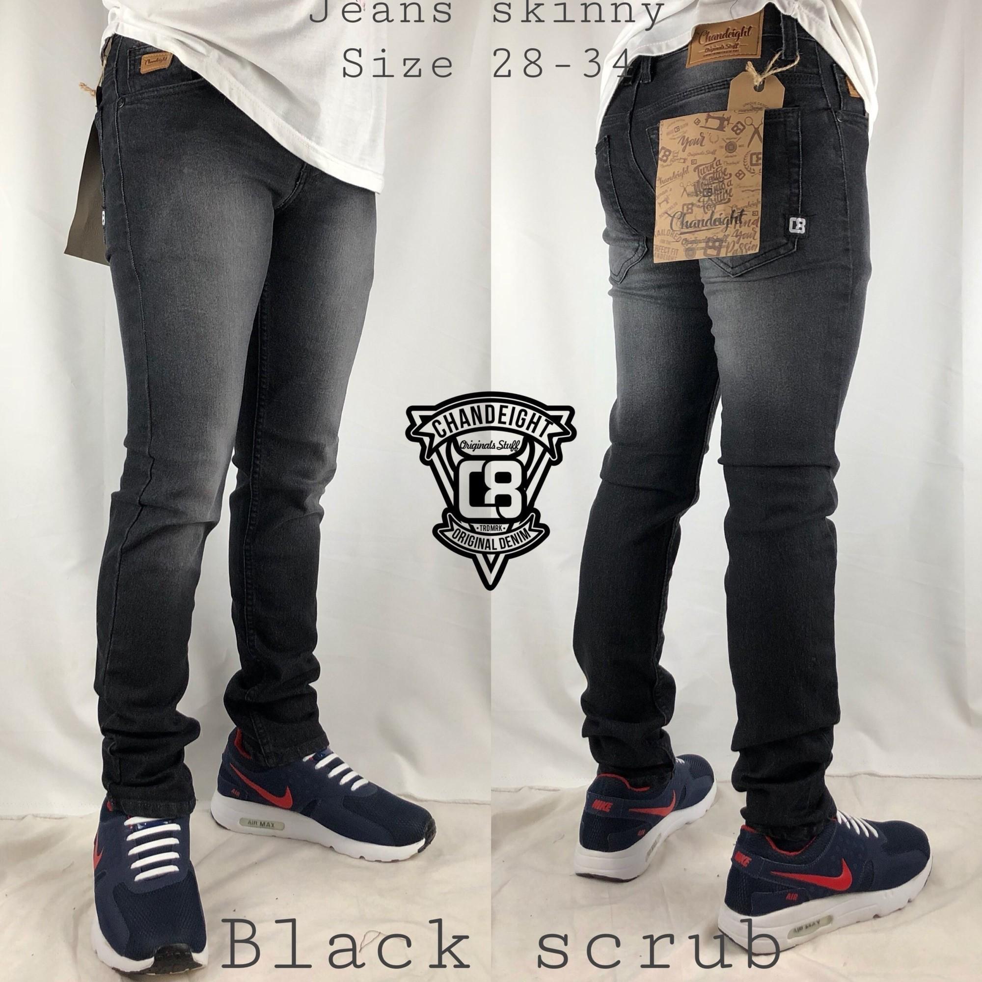 KeepStore-Chandeight Celana jeans skinny / pensil / slimfit pria