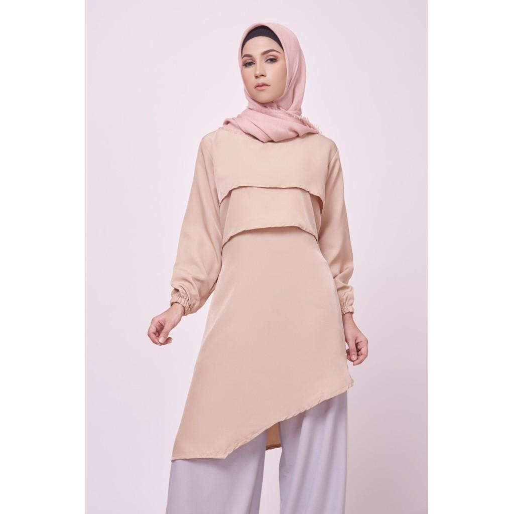 Zaskia Mecca - Fafely Tunik (Pink All Size)