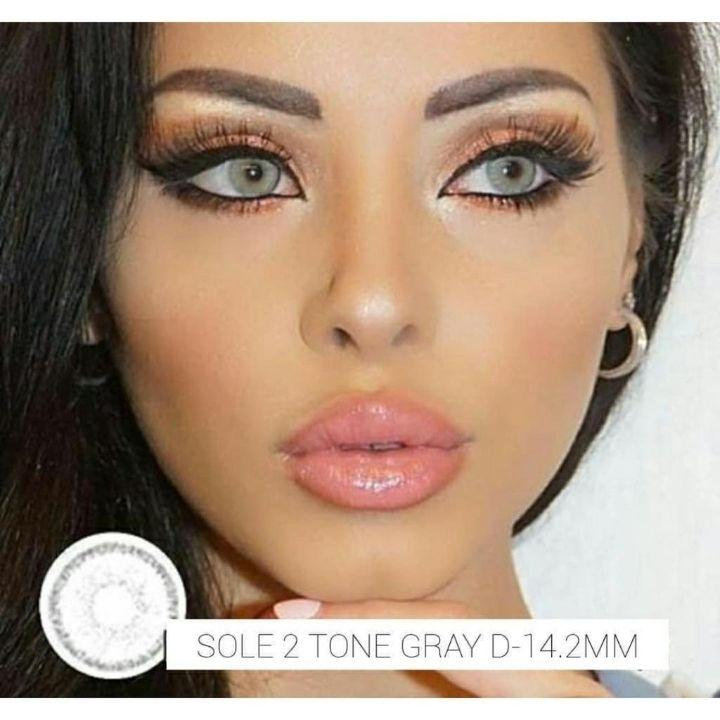 Softlens Sole 2 tone gel - grey - normal only