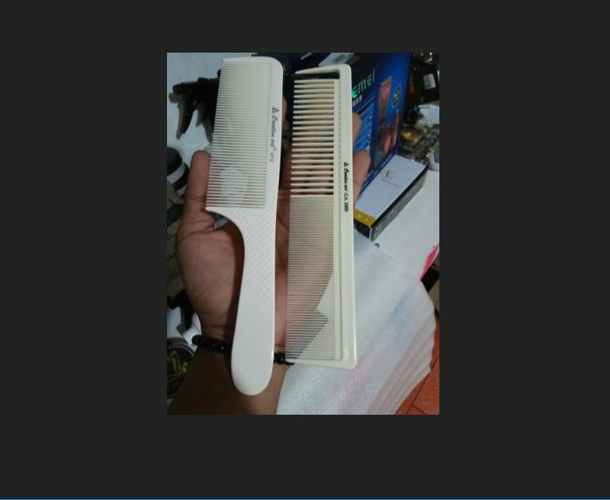 sisir potong rambut pangkas cukur barber barbershop salon comb flat