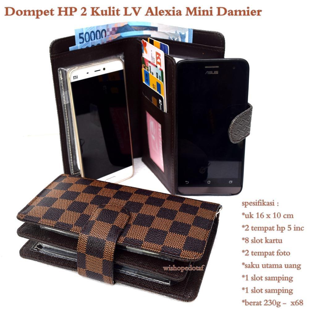 Dompet hp wanita alexia kulit lv mini 2hp up to 5inc