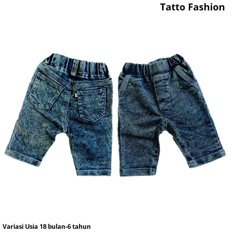 Celana Pendek 7/8 Jeans Strech Snow Wash