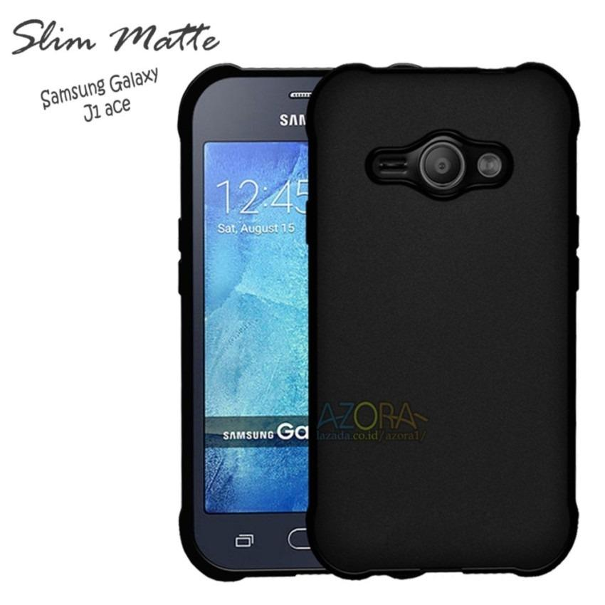 Case Slim Black Matte Samsung Galaxy J1 Ace Baby Skin Softcase Ultra Thin Jelly Silikon Babyskin