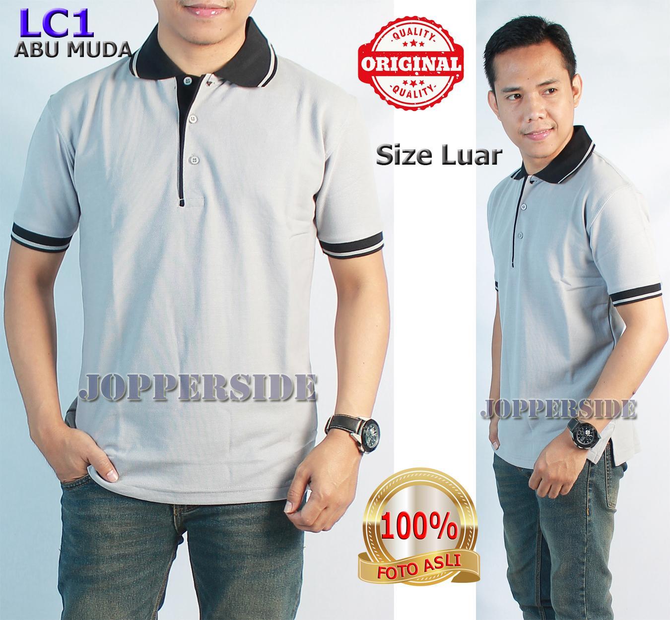 Jual Kaos Polo Anak Abu Muda Misty Cotton Pique Harga Rp 39000 Polos Black Jopperside Shirt Original Wangki Pria Hitam Lc1