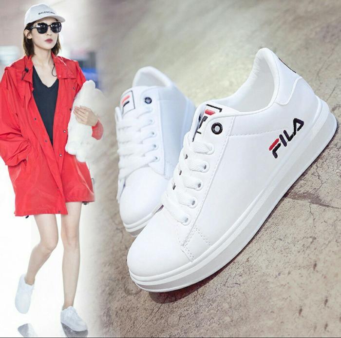 Lovely Shoes - Sepatu Kets Sneakers Wanita Fila PTH001 - Putih