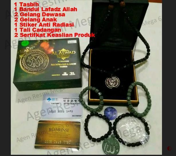 Al Aswad Platinum Series (Kalung dan Gelang Kesehatan)IDR1880000. Rp 2.011.500