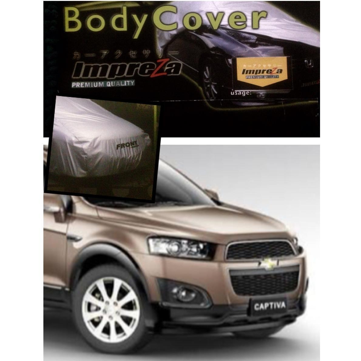 Impreza Body Cover Mobil Chevrolet Captiva - Grey/selimut mobil/pelindung mobil