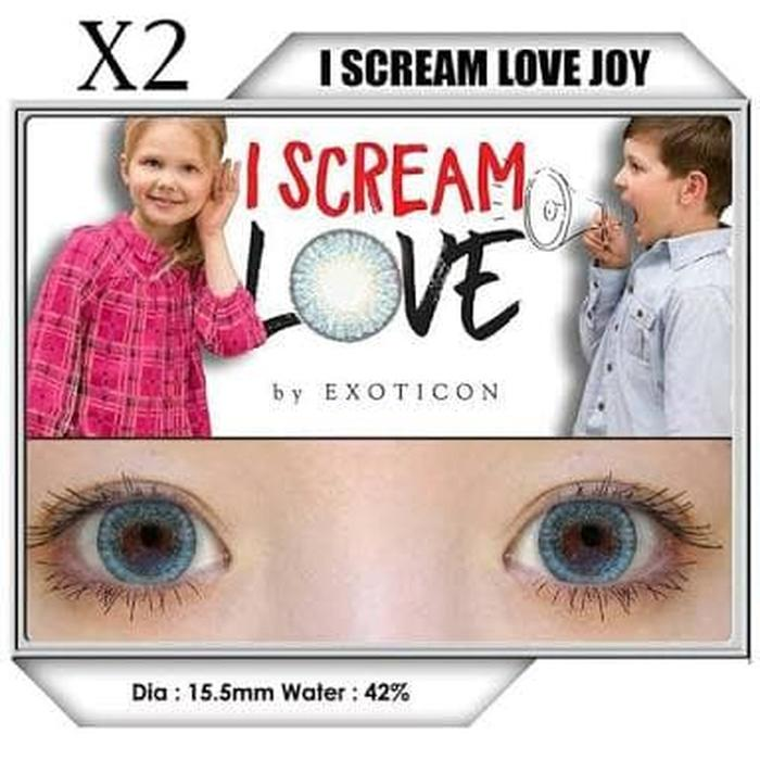 Promo - softlens x2 exoticon big eyes diameter besar 15.50 mm ready minus Original