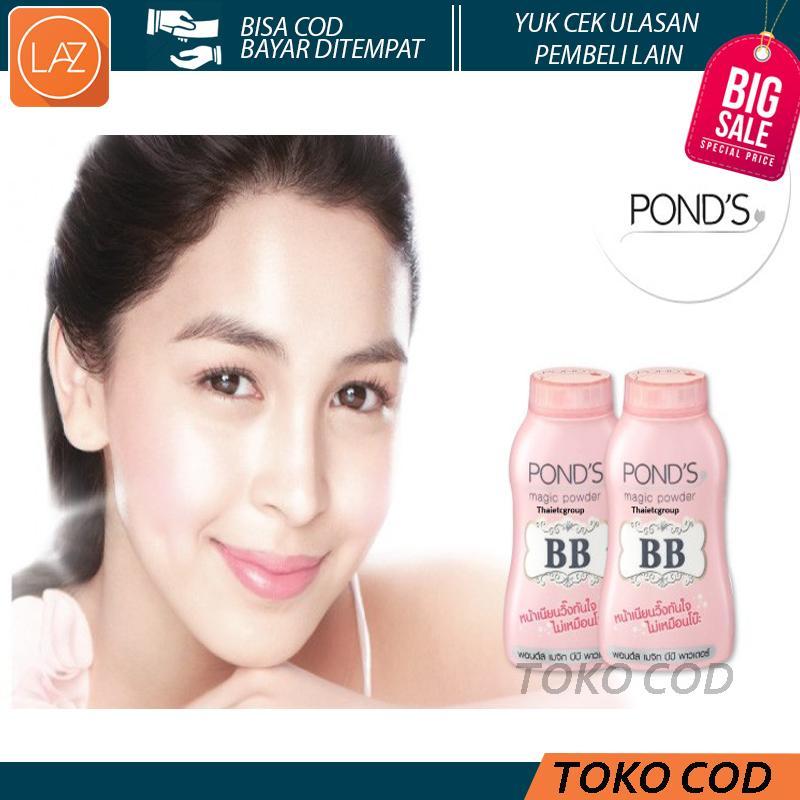 Toko COD - Ponds BB Magic Powder 50gr Free Ikat Rambut Lucu - Bedak Tabur Original Thailand