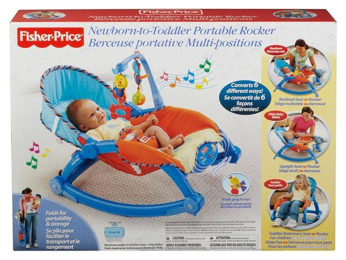 Fisher Price Newborn to Toddler Portable Rocker / Bouncer Chair