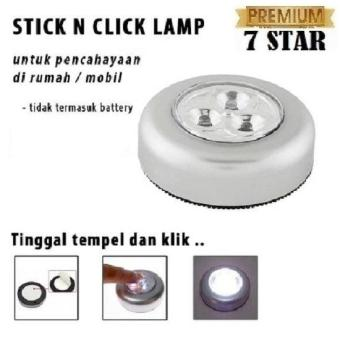 Harga preferensial PREMIUM Stick N Click Lamp 7STAR - 3 Mata LED / Stick Touch Lamp