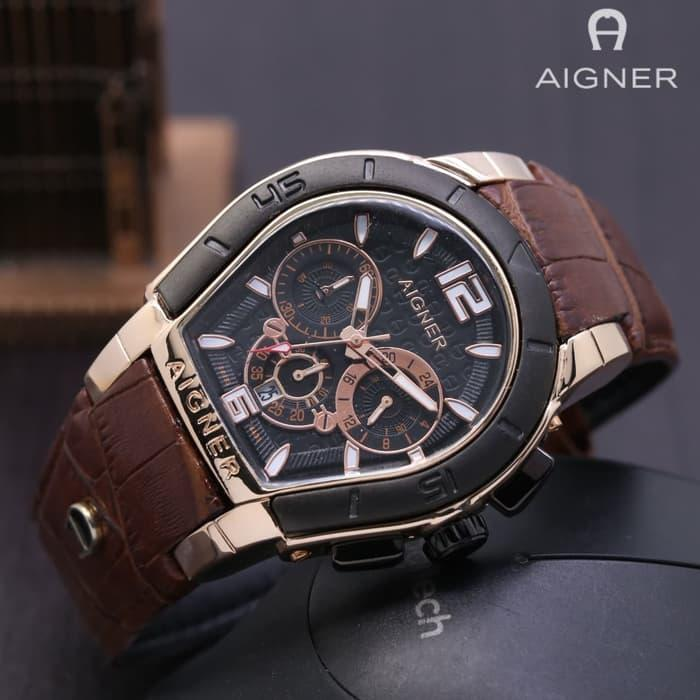 AIGNER PALERMO CHRONO ACTIVE BROWN ROSEGOLD BLACK