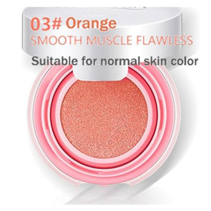BIOAQUA BLUSH ON CUSHION SMOOTH / BLUSH ON MUSCLE FLAWLESS - NO.3 ORANGE