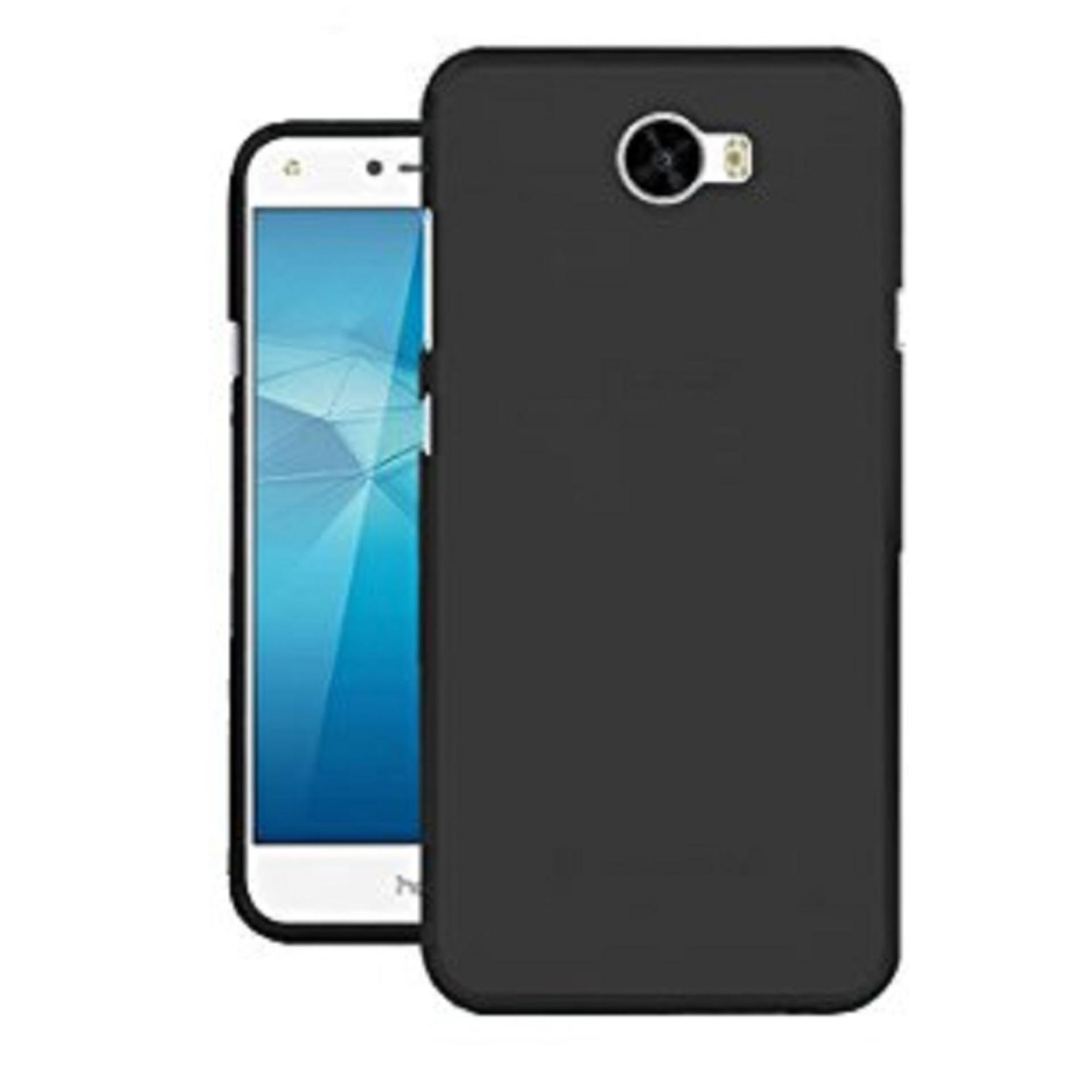 DarkNight for Huawei Ascend Y5ii / Y5 2 / Y5 (2016) | Slim Case Black Matte Softcase Premium (Anti