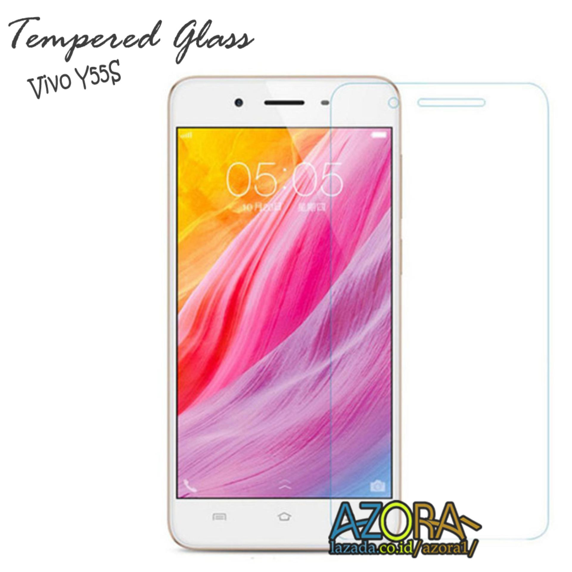 Tempered Glass Vivo Y55S Screen Protector Pelindung Layar Kaca Anti Gores - Bening