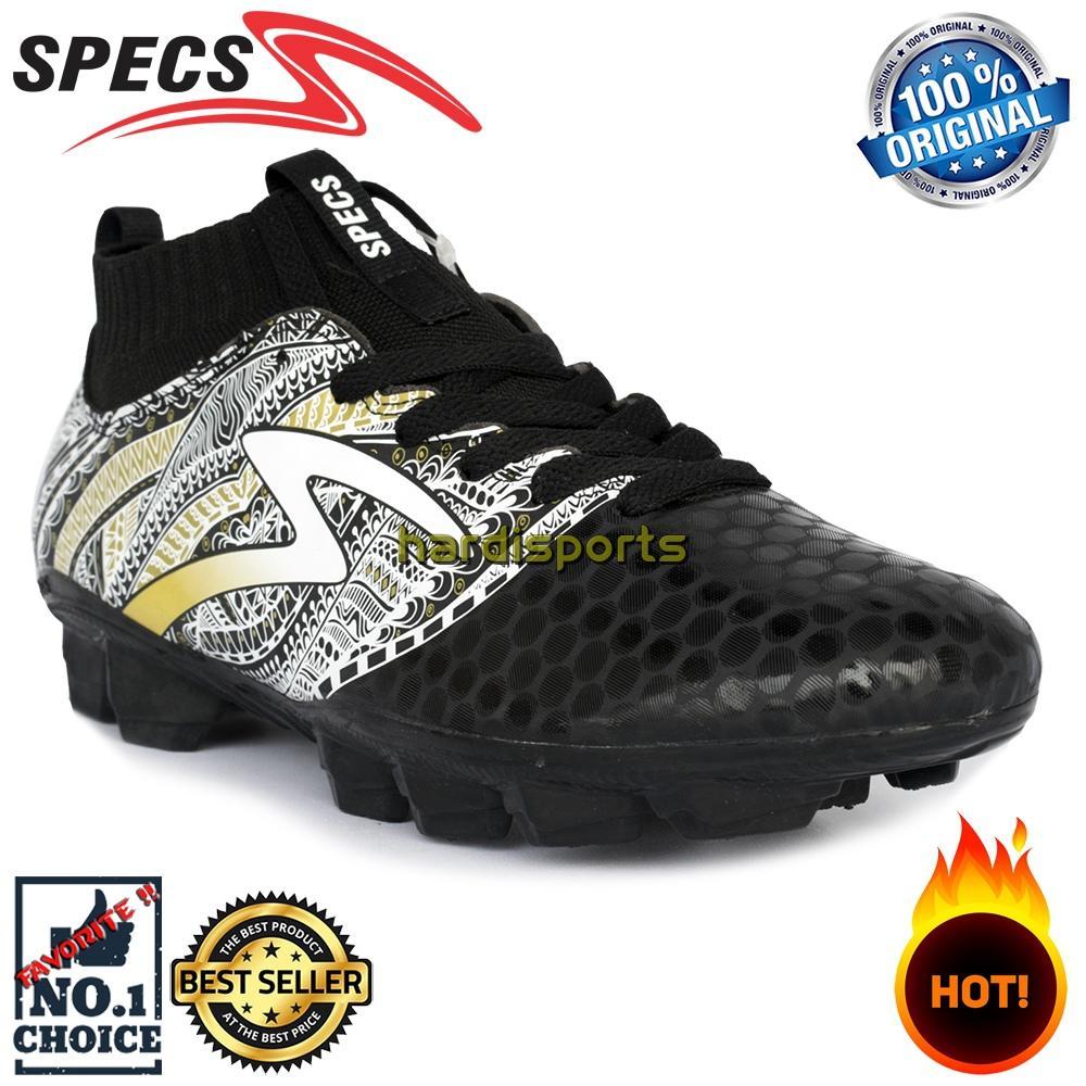 Sepatu Sepakbola Pria Specs Heritage FG 100797 - Black Gold