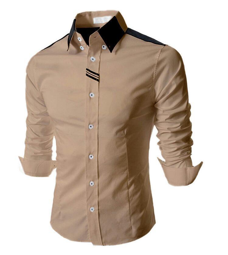 Anvi EXELIOR Khaki - 8 Warna - Kemeja Pria Lengan Panjang