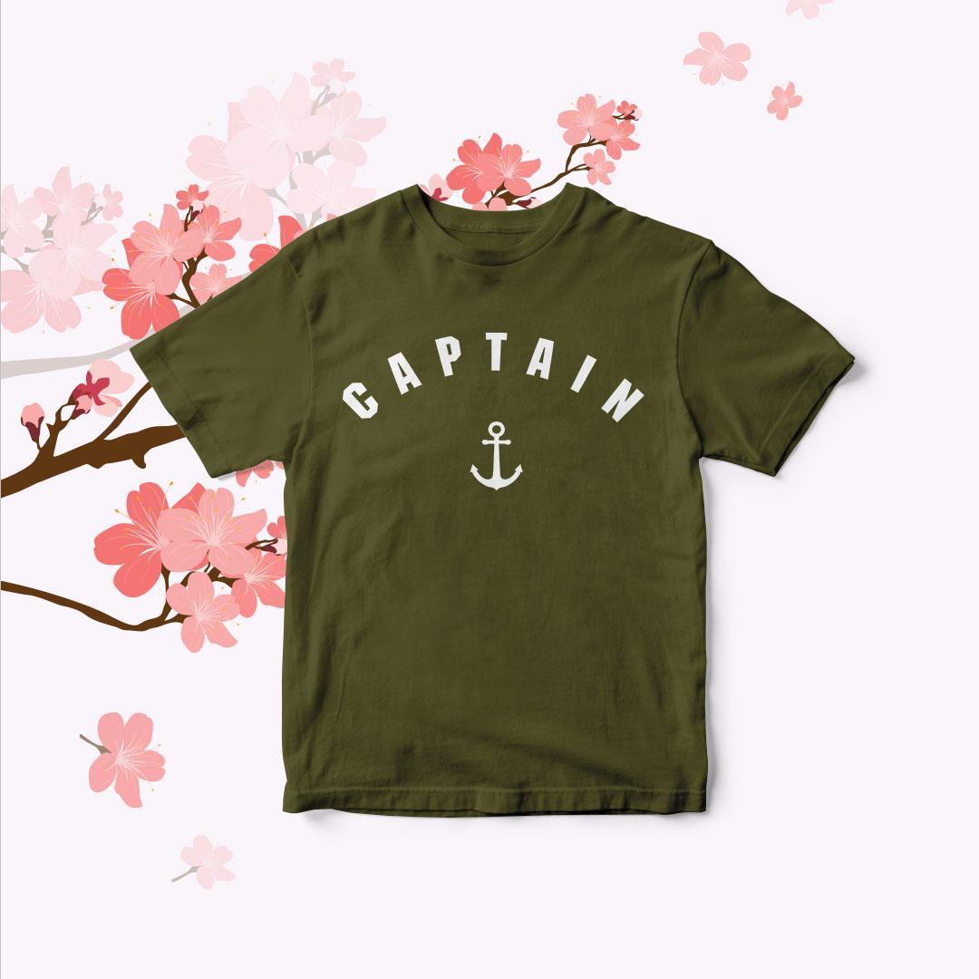 Polarisshirt - T-shirt Captain Tumblr Tee Cewek / Kaos Wanita / Tshirt Cewe Cotton Combad / Kaos Oblong / Trending Shirt
