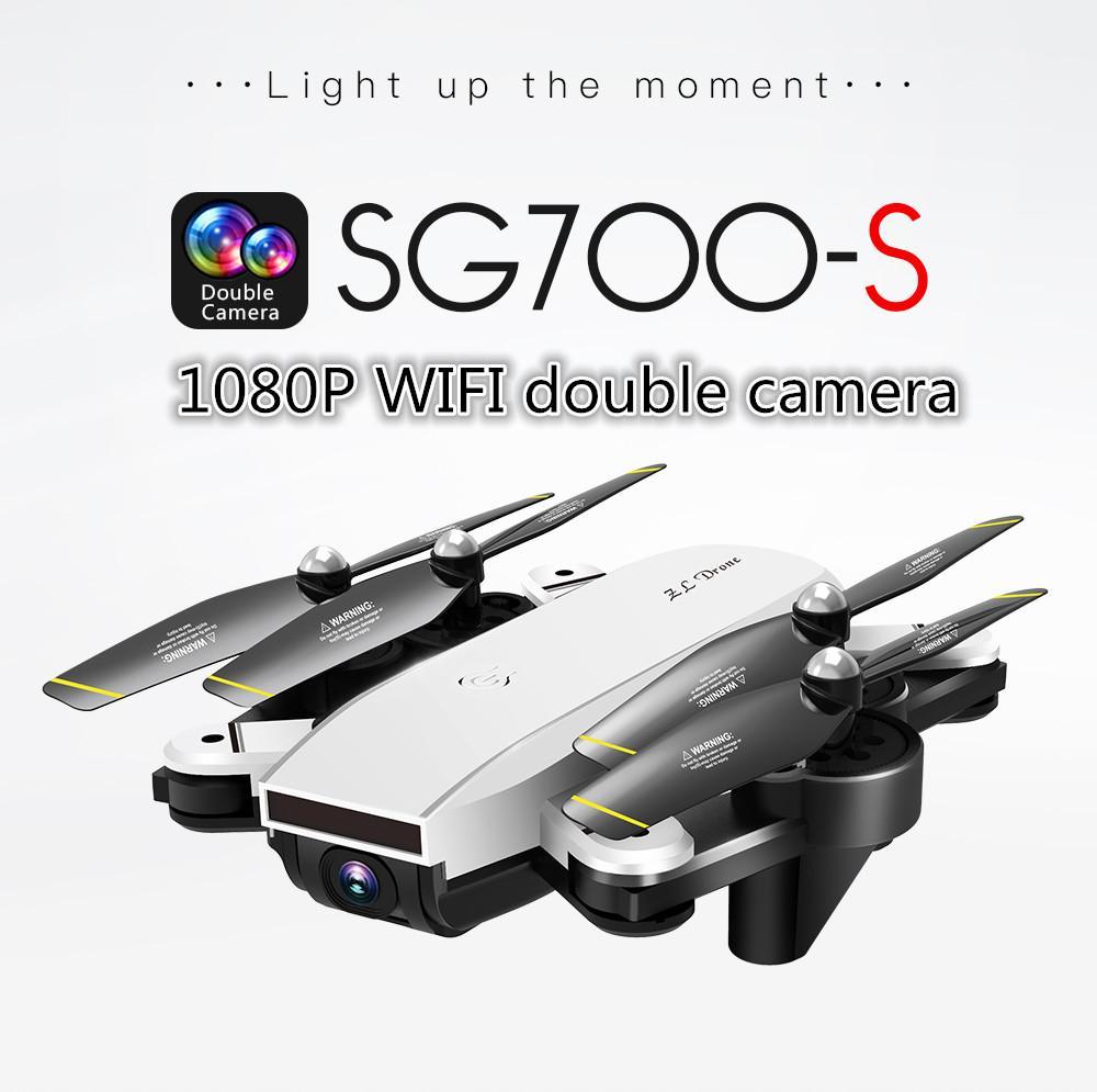Yunmiao_sg700-S Rc Pesawat Berkamera Dengan Empat Baling-Baling 1080 P Wifi Fpv Lipat Drone Selfie Putih By Yantai Yunmiao Dianzi Shangwu Ltd.