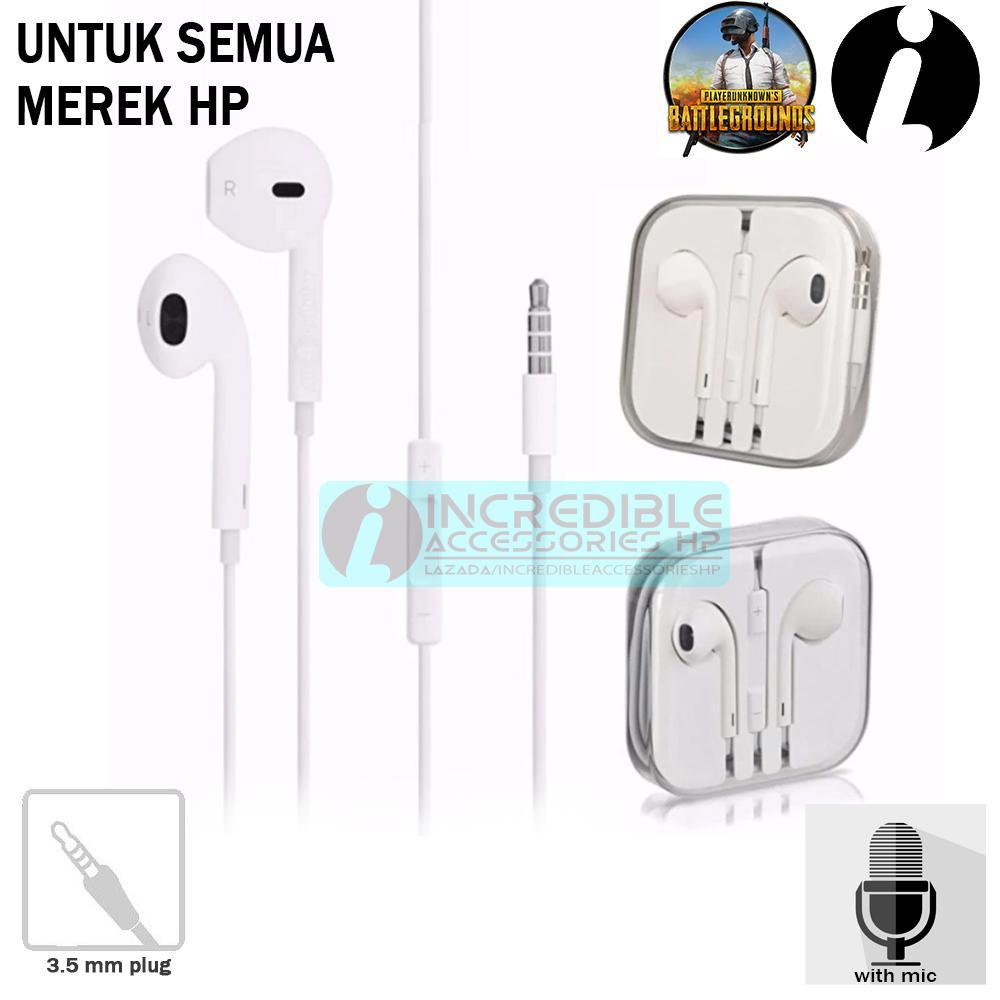 Headset Apple iPhone Untuk Main PUBG Mobile Dilengkapi Microphone High Quality Stereo 3.5mm Jack Au