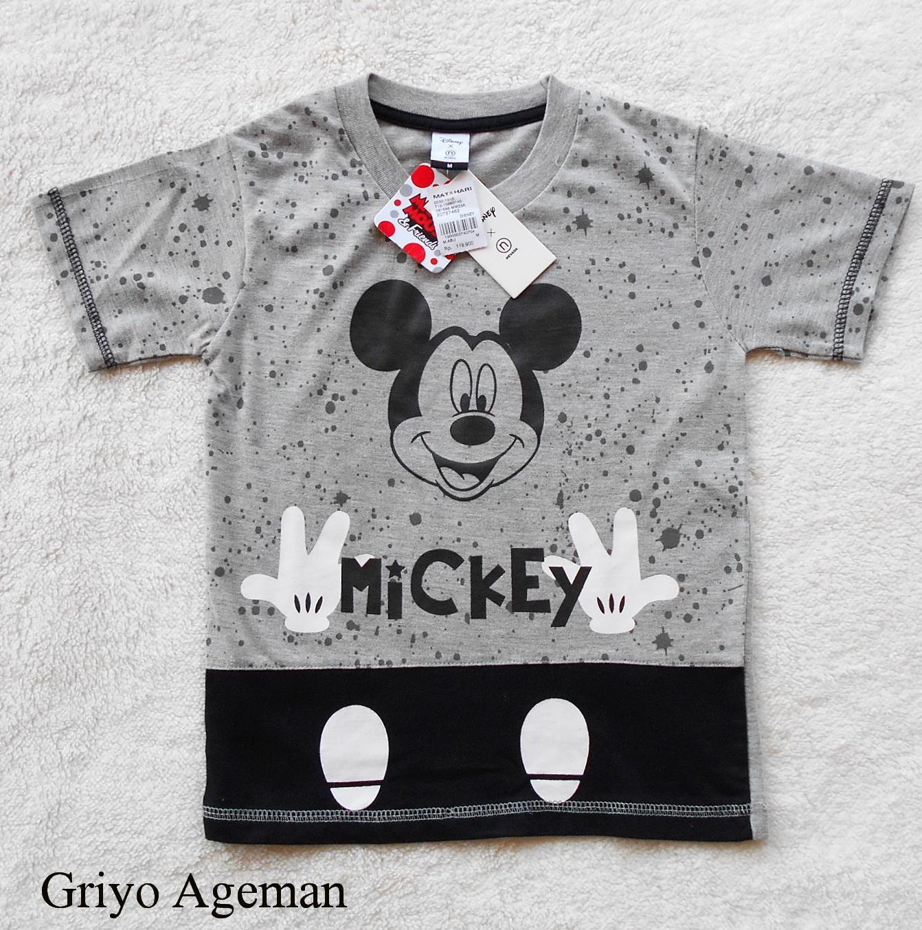 Kaos Anak Disney Mickey - Abu