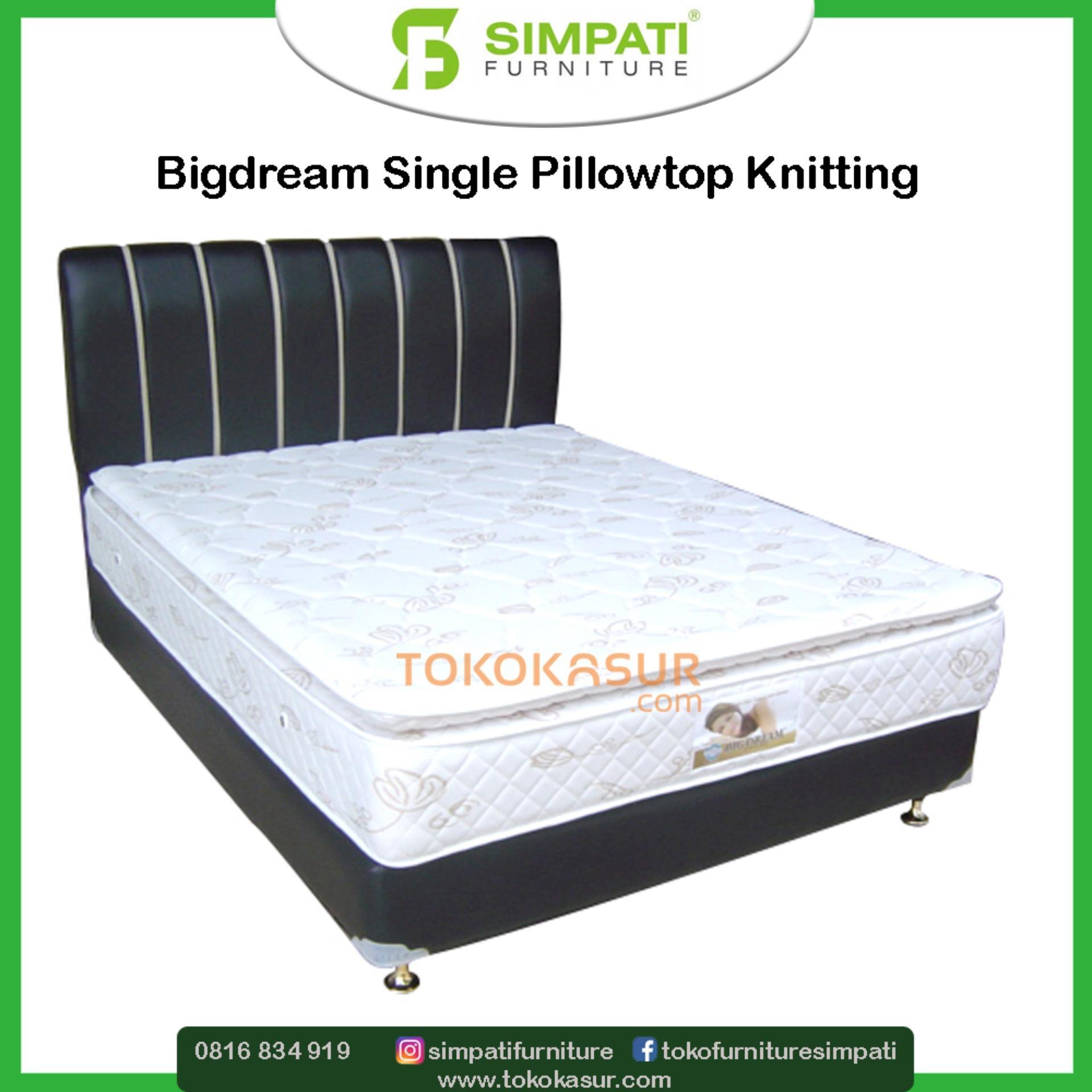 Bigdream Single Pillowtop 160x200 Kasur Tanpa Divan Sandaran Victory Comforta Super Pedic 90x200tanpa Jadebotabek Only Knitting 100x200 France Oscar