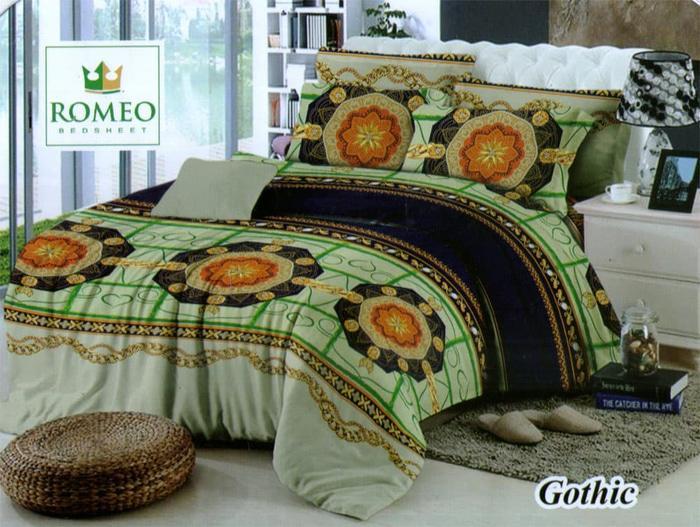 PROMO PALING MURAH Bedcover Romeo ukuran 180 x 200 / King / No.1 - Gothic TERLARIS
