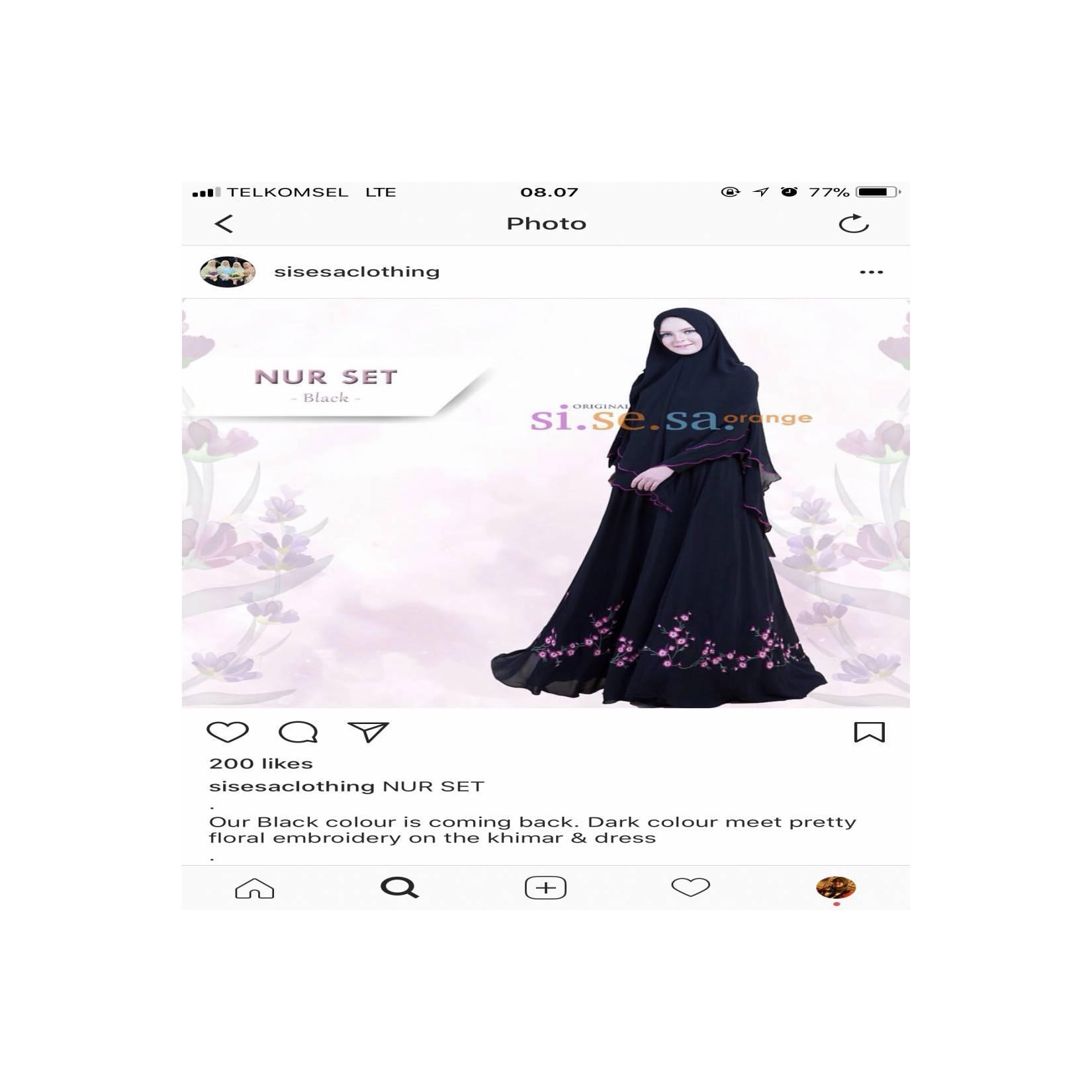 Sisesa clothing Nur Set dress with Khimar