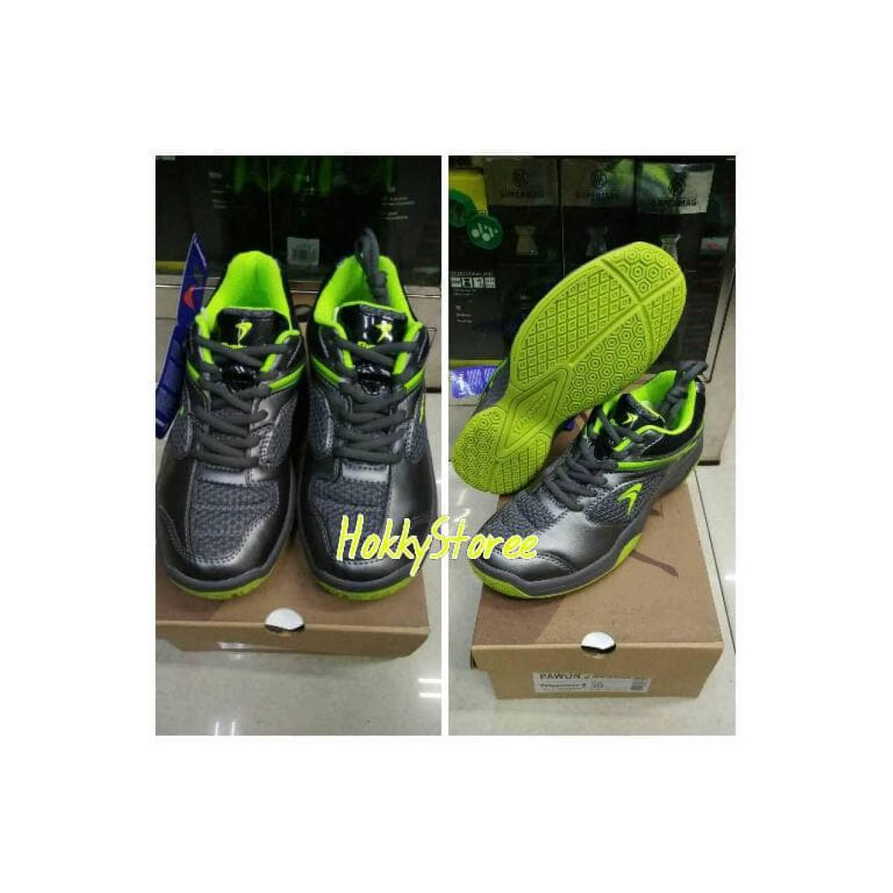 SEPATU BADMINTON FLYPOWER PAWON 3 GREY LIME - ORIGINAL