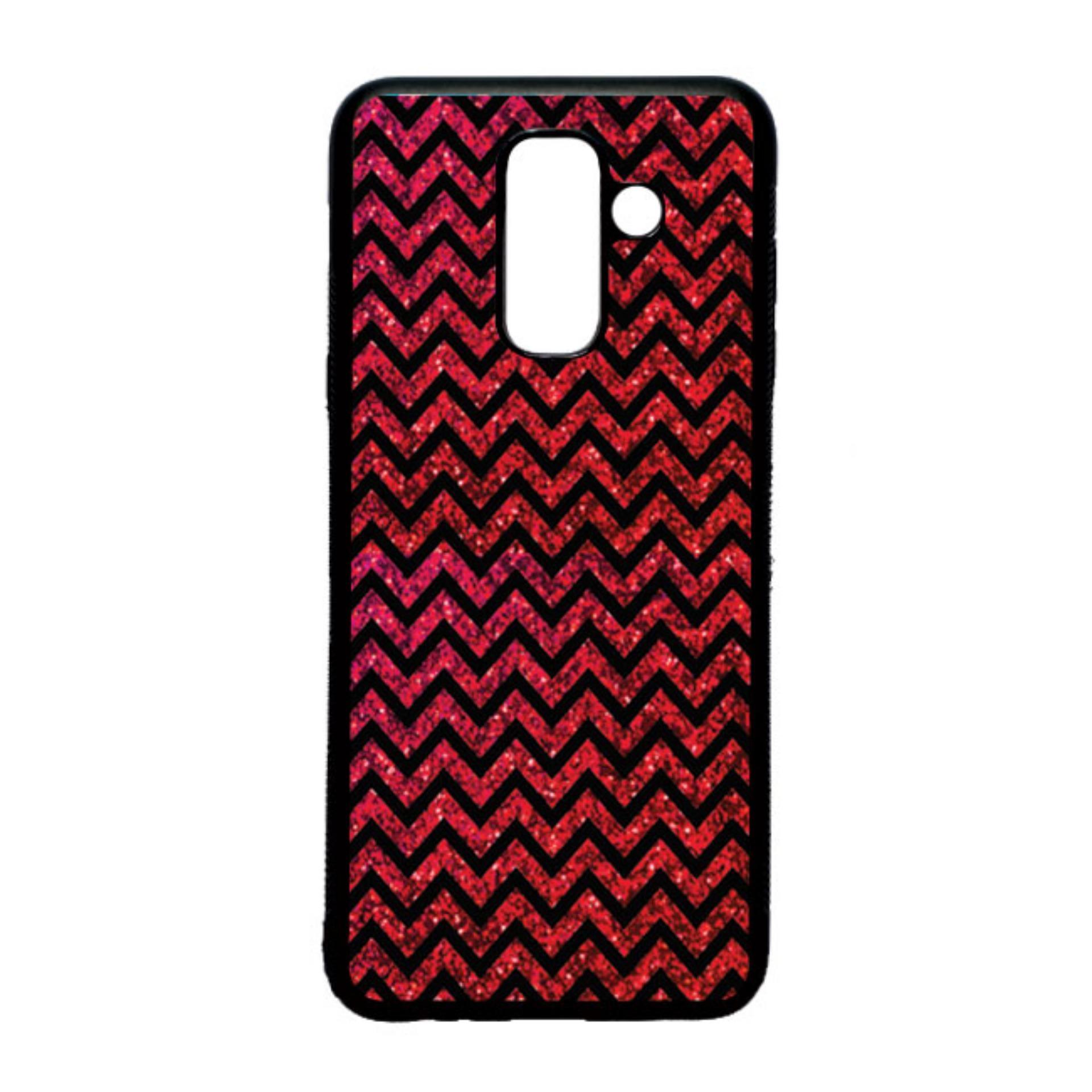 HEAVENCASE Case Casing Samsung Galaxy A6+ / A6 Plus Case Softcase Hitam Motif Batik Chevy 27
