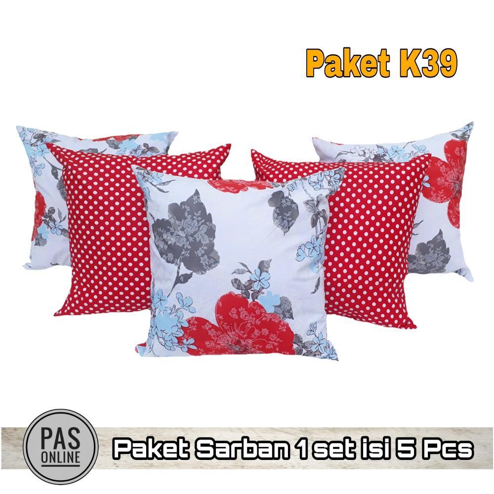 Pas Online - Sarung Bantal Sofa Motif Premium Set Kombinasi ( 1 Paket = 5 Pcs )