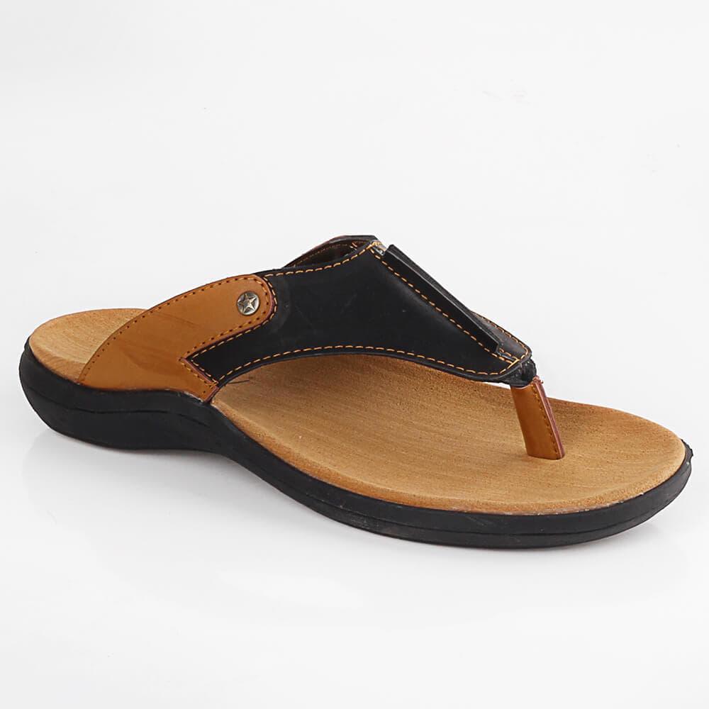 Sandal Sendal Jepit Casual Pria Cowok Cowo Coklat Hitam LMG 164 BY