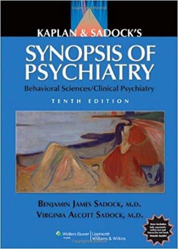 Kaplan and Sadock's Synopsis of Psychiatry 10th Ed