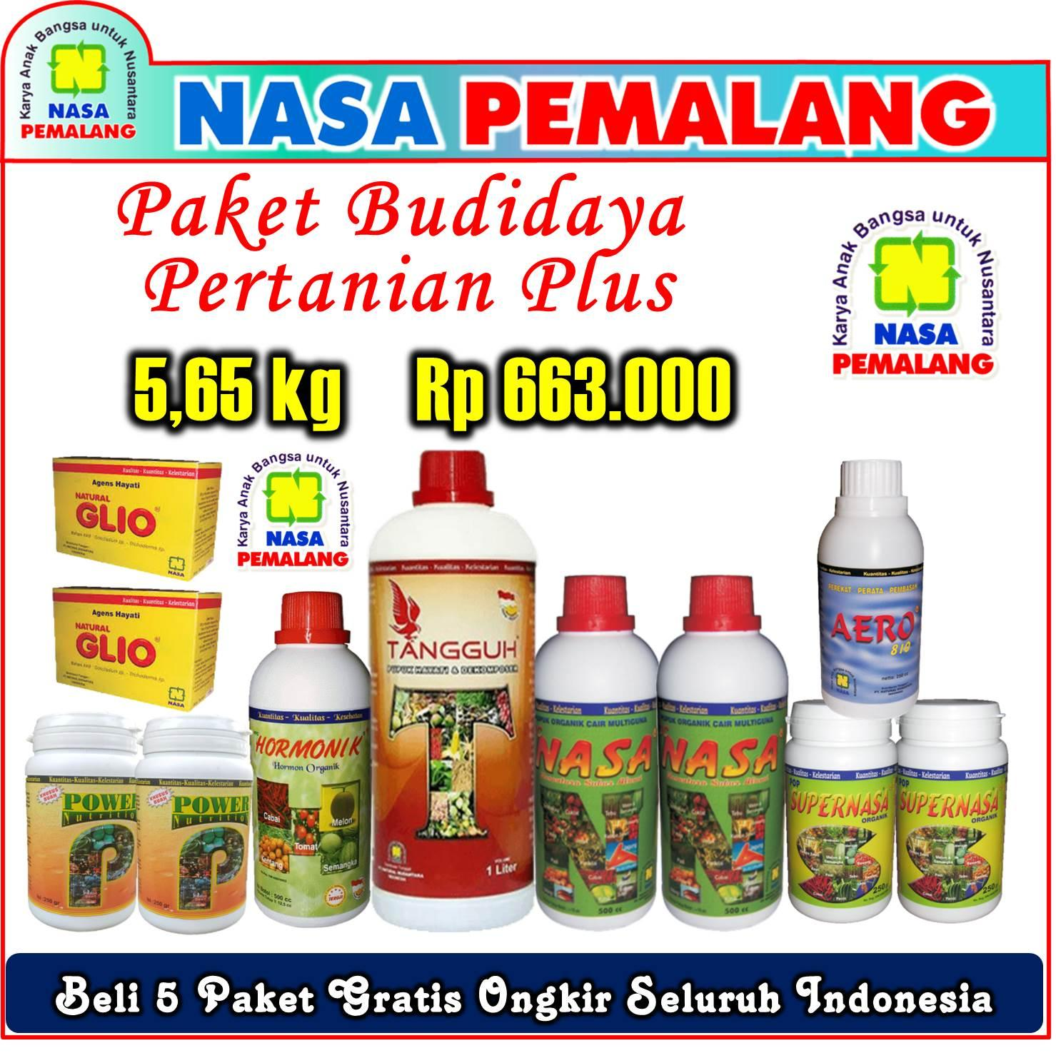 PAKET BUDIDAYA PERTANIAN PLUS TANGGUH DEKOMPOSER POWER NUTRITION SUPERNASA POC NASA HORMONIK GLIO AERO