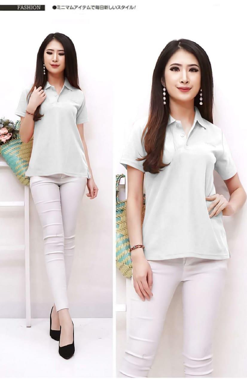 maestro fashion blus kerah polo / baju wanita / atasan perempuan / polo shirt / baju