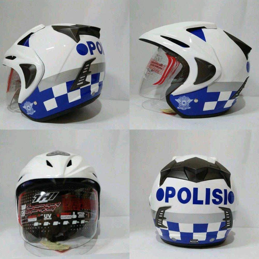 Helm Polantas Helm Polisi Helm Thi White Polisi