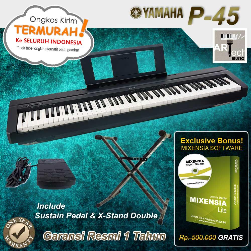 Yamaha P45 - XStand Double / P-45 / P45B / P-45B Digital Piano